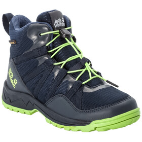 Jack Wolfskin Thunderbolt Texapore Mid Shoes Kids dark blue/lime